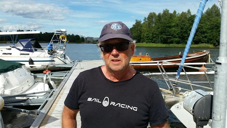 Jan-Erik Flink är ordförande för båtklubben i Sandarne.