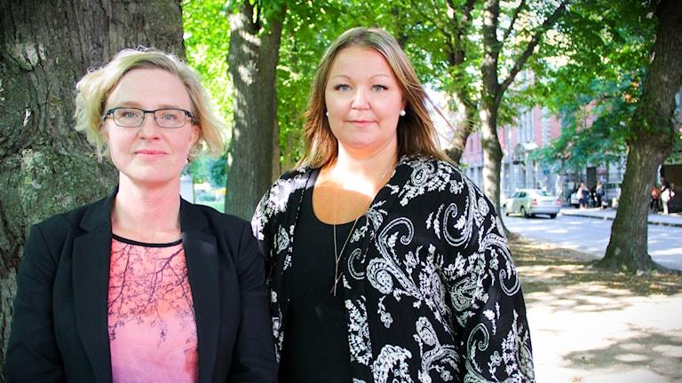 Karin Rystedt HR-direktör och Anna Bergström, ordförande för Vårdförbundet i Gävleborg
