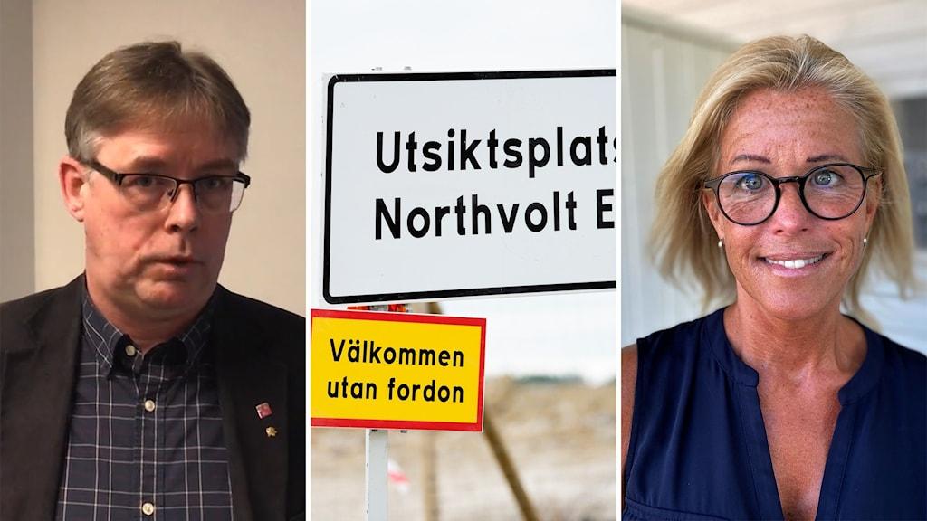 Mikael Löthstam (s) / informationsskyltar / Åsa Wiklund Lång (S)