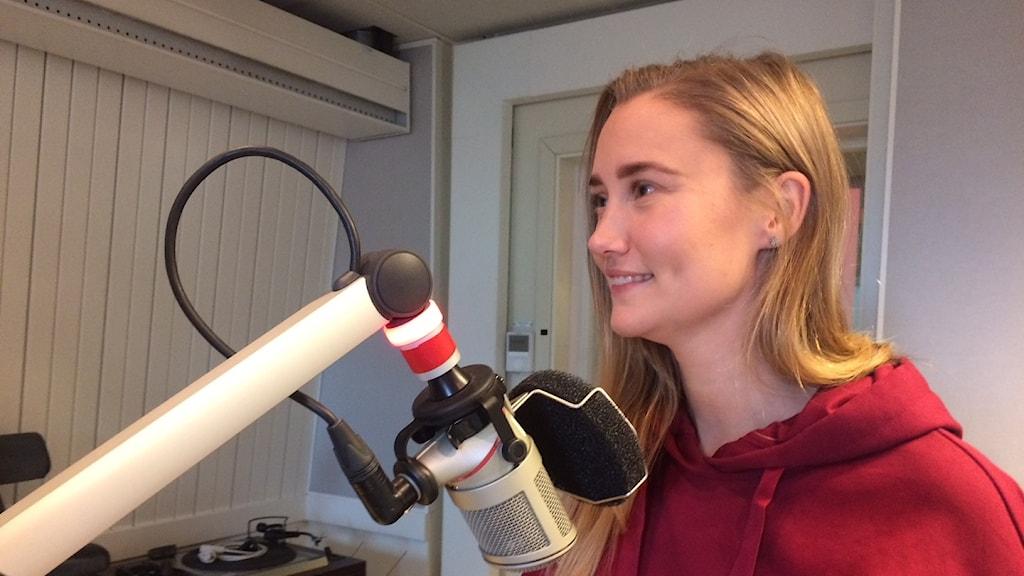 Sara McManus gästade P4 Gävleborg idag i samband med Världens barn-kampanjen.