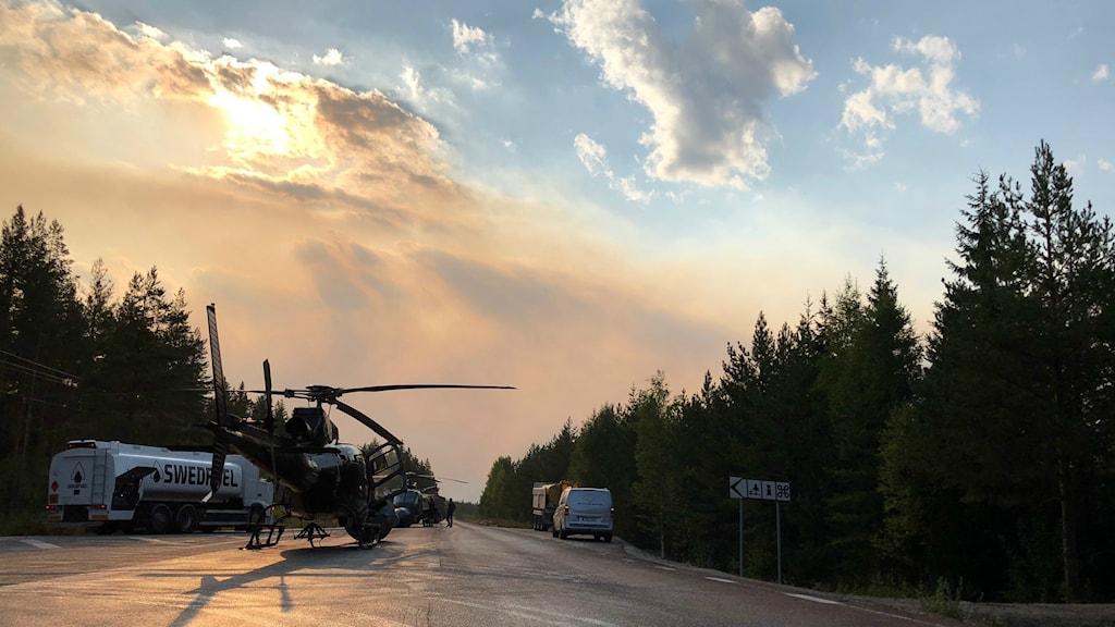 Brand Skogsbrand Ängra Ljusdal Lassekrog Kårböle