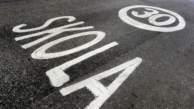Hastighetsbegränsning på 30 km/tim vid skola