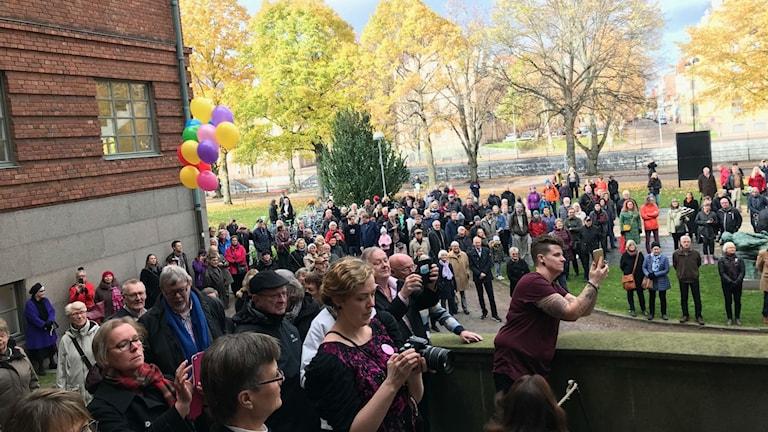Kön ringlade lång till nyöppnandet av Länsmuseet i Gävleborg under lördagen.