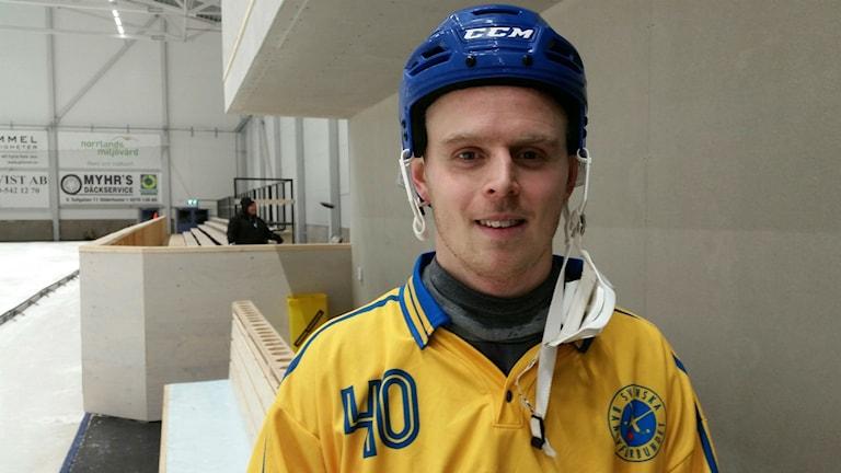 Adam Gilljam passade till ett mål i segermatchen mot Finland.