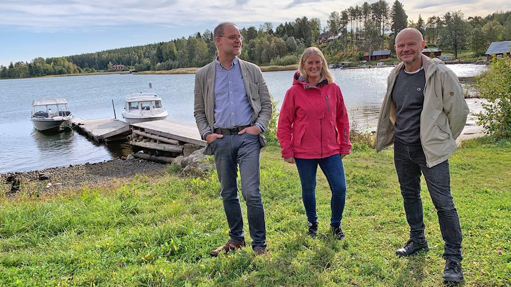 Ola Nilsson, Marie Larsson och Erik Forslin