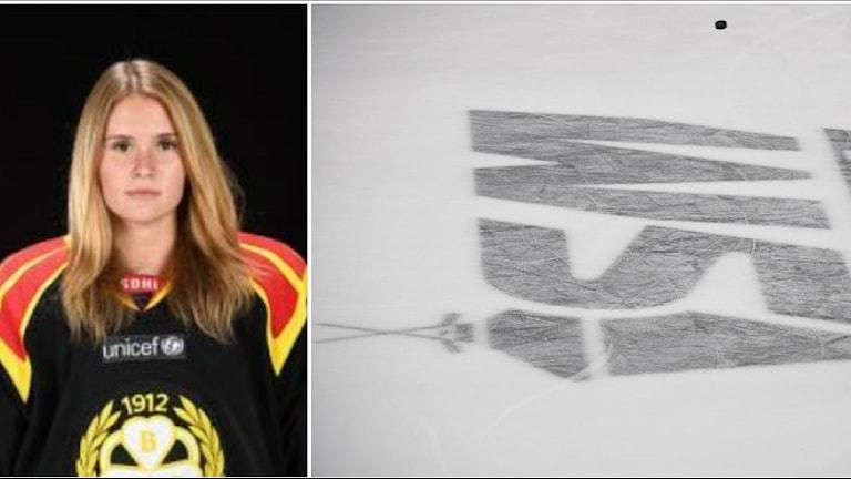 Wilma Carlsson hann spela åttio matcher i SDHL och var även med och tog guld i ungdoms-OS 2016.