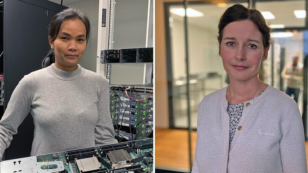 Kvinnor från It-teknikerutbildningen.