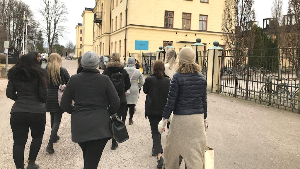 Studenter på högskolan i Gävle.