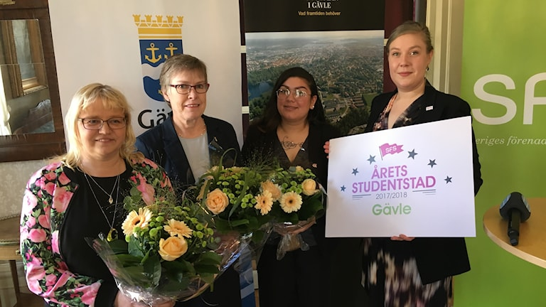 Fr.v: Helene Åkerlind, Maj_Britt Johansson, Linda Igglund och Caroline Sundberg.