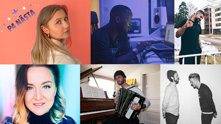 Linn Wikblad, Sndayz feat. Addicta, Mendy, Petter Elfsberg och Demofabriken är finalister i P4 Nästa Gävleborg 2019.