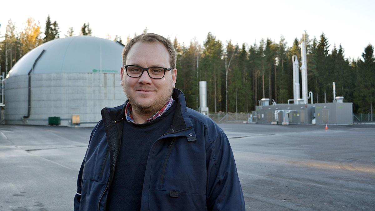 Jonas Hellström, VD vid Gästrike Ekogas AB