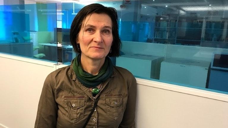 Sarah Ljungkvist, genusforskare Högskolan i Gävle. Fotograf Hans Andersson/Sveriges Radio