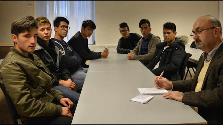 Yallia, Nasir, Ali, Amir, Emran, Ahmad och Omid från Afghanistan får inte längre vara kvar i Sverige.