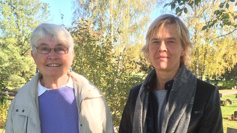 Inga Berglin och Lisa B Östman från Ungdomsfonden i Gnarp.