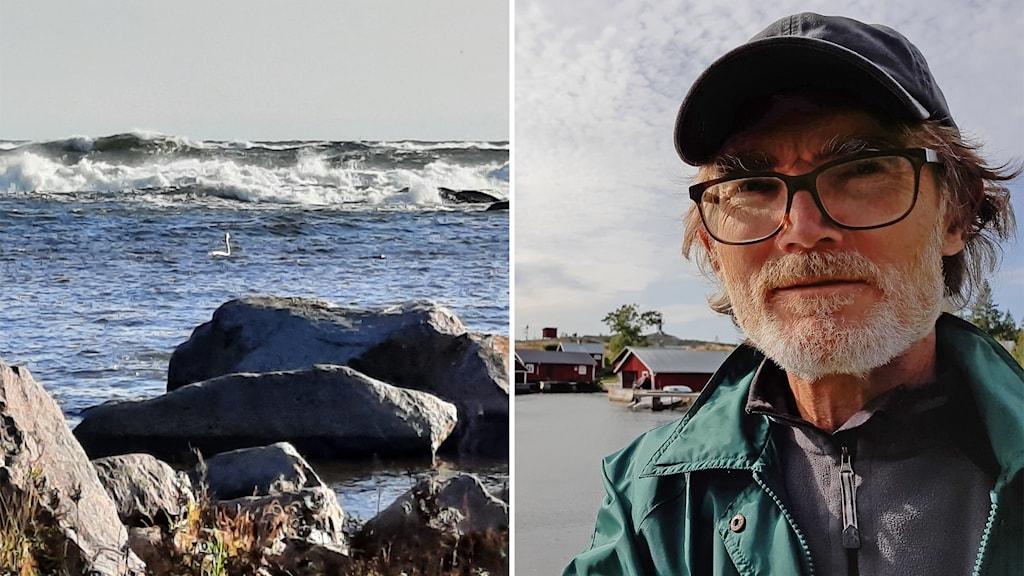 Anders Eklind och vågor vid Prästgrundet