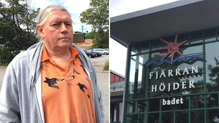 Björn Eriksson fick både bil, plånbok och mobiltelefon stulen när bilen stod parkerad på Fjärran Höjder-badet.
