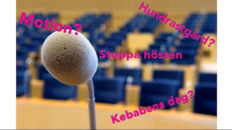 På måndagen var det dags för P4 Gävleborgs motionsskola med kammarsekreterare Johan Welander.