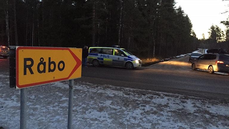 Stort polispådrag i Råbo utanför Hudiksvall dagen innan julafton