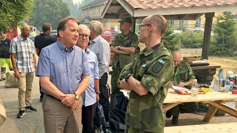 Statsminister Stefan Löfven besökte Lassekrog under torsdagen.