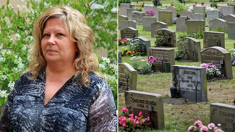 Åsa Nilsson är dödsbohandläggare i Gävle kommun.