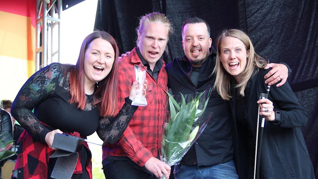 Amanda Örtenhag, Olle Tjern, Jimmy Sunnebrandt och Mikaela Sunnebrandt.