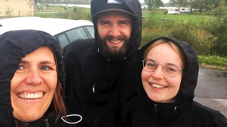 Programledarna Catrin Landén, Kristian Bruce Bolinder och Martina Söderlind.