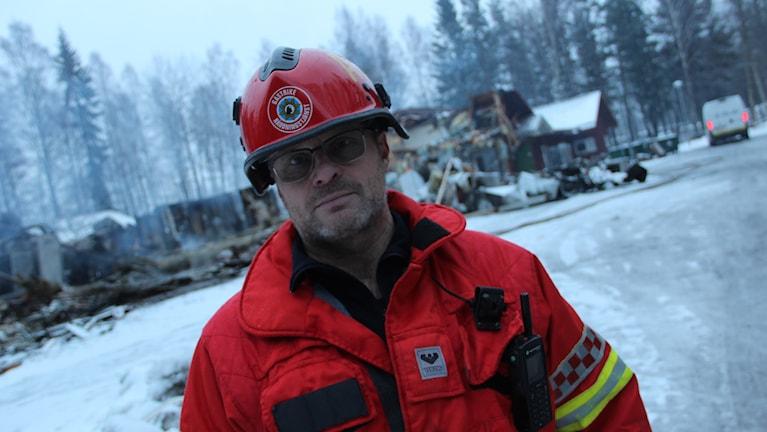 Räddningsledare Mats Åkre.