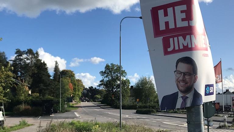 Valaffisch från Sverigedemokraterna i Hedesunda.