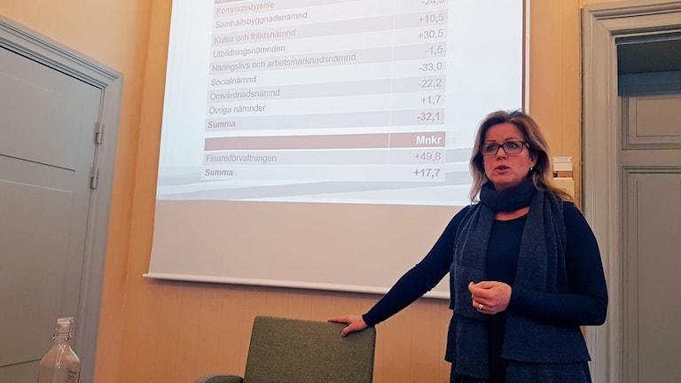 Åsa Wiklund Lång (S), kommunstyrelsens ordförande i Gävle kommun.