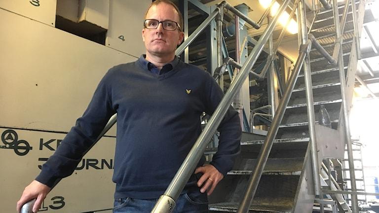 2019 går tryckeriet i Gävle i graven berättar Jan Andersson vd MittMedia Print AB.