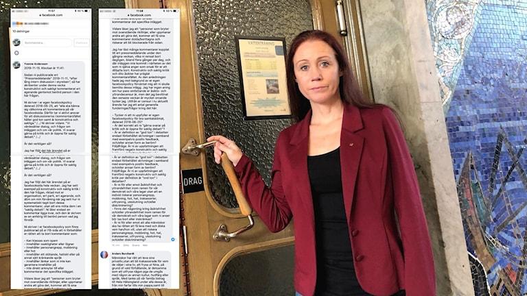 Historien om hur S-politikern Nina Burchardt tvingdes lämna politiken skapar känslor, men Socialdemokraterna i Hudiksvall har valt att ta bort kritiska inlägg på sin Facebooksida.