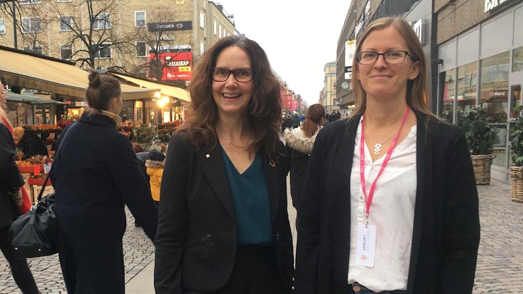 Maria Sundman och Lina Hedman, jämlikhetsutredning Region Gävleborg
