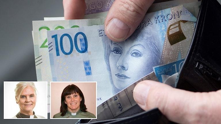 En kraftig ökning på ansökningar och minskade inkomster gör att Uppsala Stifts flyktingfond har slut på pengarna bara två månader in på det nya året. Detta oroar Lena Egueta Blom, stiftsdiakon och Maria Blixt diakon i Staffans församling i Gävle.