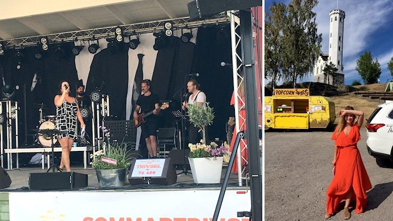 Jamina Jansson och Anna Sahlin är allsångsledare på Östra berget i Söderhamn.