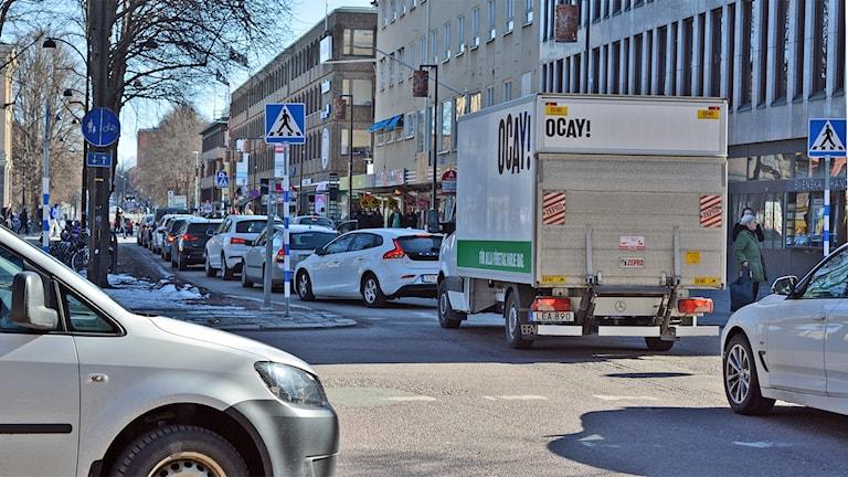 Bilkö i centrala Gävle