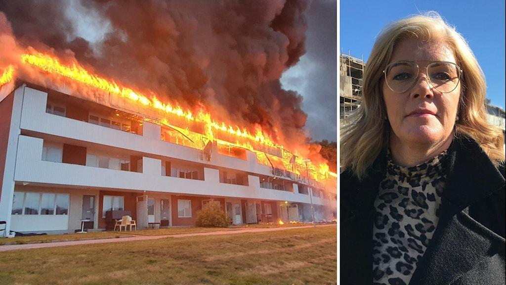 Ann-Berit Botngård, vd på Faxeholmen, om brandens efterspel.