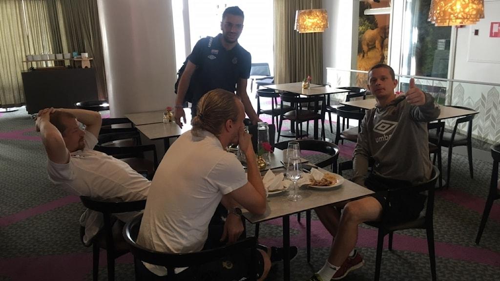Poya Asbaghi ser framemot dagens tävlingsmatch mot Varbergs BoIS. Den första efter sommaruppehållet.