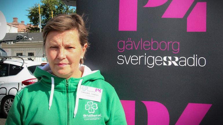 Caroline Schmidt, centerpartistiskt oppositionsråd i Hudiksvall.