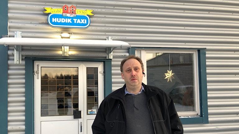 Per Svensson, ordförande för Hudiksvalls taxi.