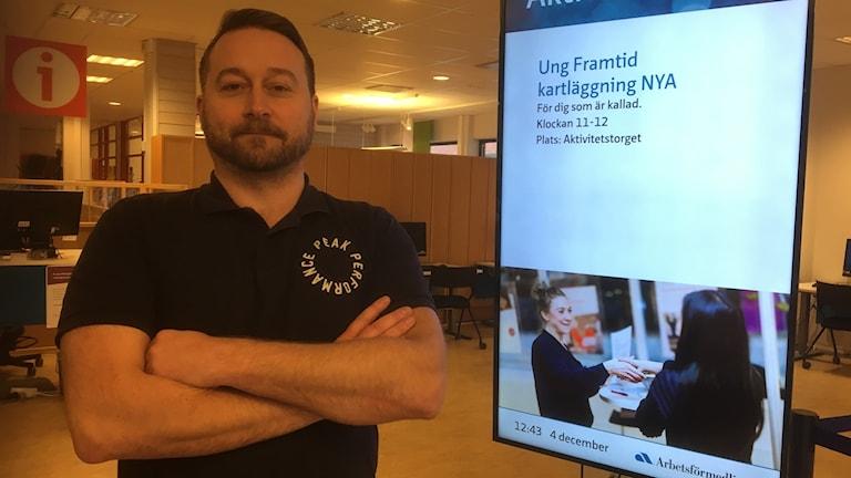 Mikael Eriksson, chef på Arbetsförmedlingen i Gävle.