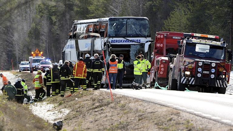 Tre ungdomar dog i bussolyckan i Sveg.
