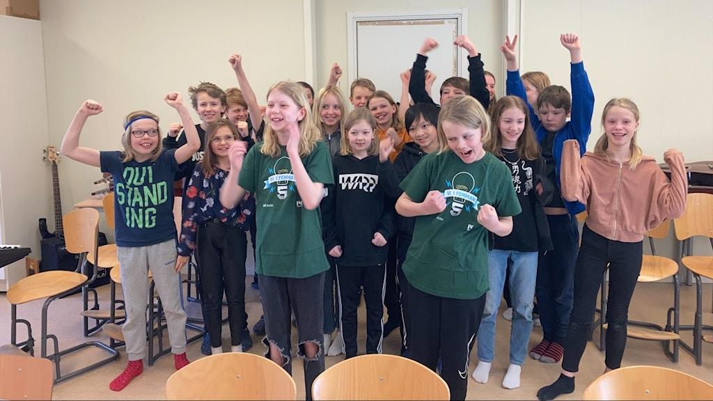 Hagaströms skola klass 5A.