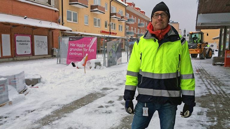Morgan Lundgren är projektledare för ombyggnationerna i centrala Sandviken.