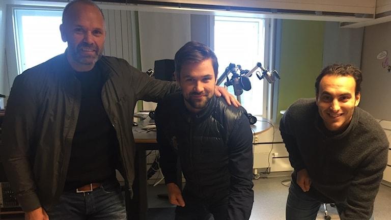 Tommy Sjödin, Johan Alcén och Louie Caporusso