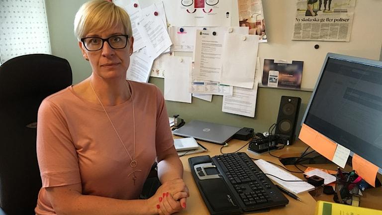 Eva Arvidsson är ordförande i polisförbundet Gävleborg.