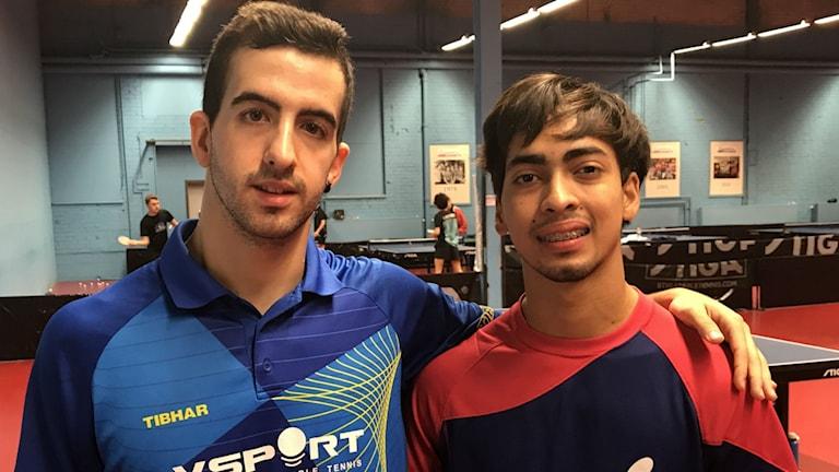 Miguel Angel Vilchez och Jomar Gonzales från Spanien respektive Puerto Rico är i Söderhamn för att utvecklas i sina karriärer.