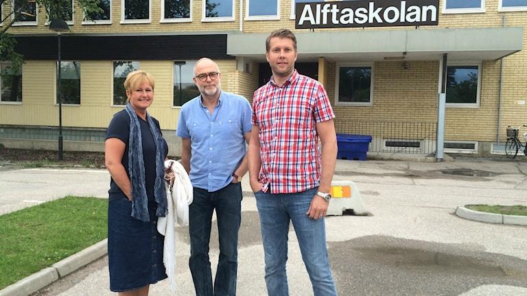 Alftaskolan håller öppet hela sommaren hälsar Katarina Ceder Bång, barn- och utbildningschef, Anders Liljemark, rektor och Jörgen Edström, rektor.