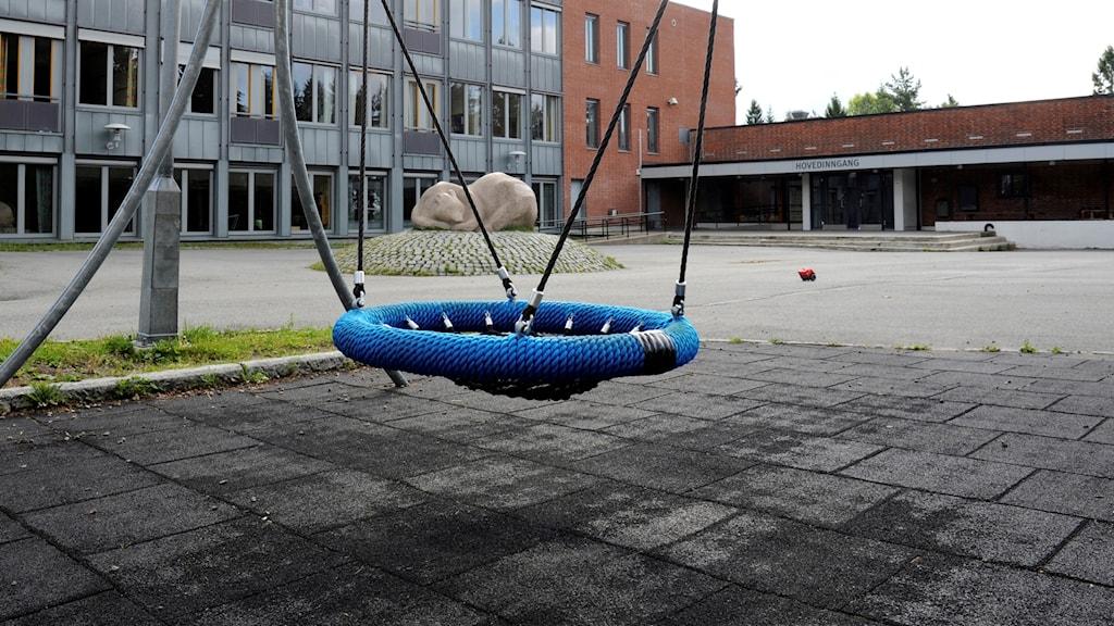 skolgård i Norge