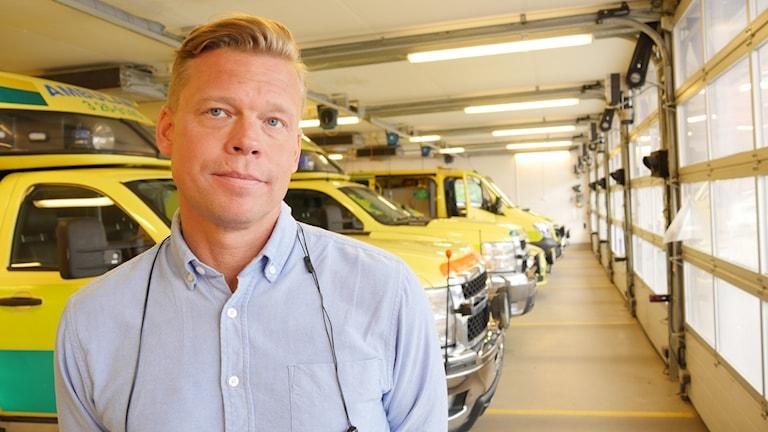 Peter Sund, verksamhetschef för ambulansen i Gävle.