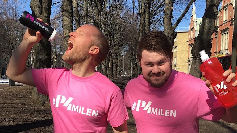 Gör som våra programledare Petter Barrling och Martin Svensson. Spring P4-milen!